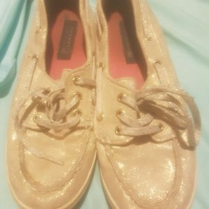 Gold glitter size 5 Sperry's